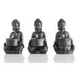 Teelichthalter Buddha in Braun - Braun, LIFESTYLE, Kunststoff (9/14/9cm) - Mömax modern living