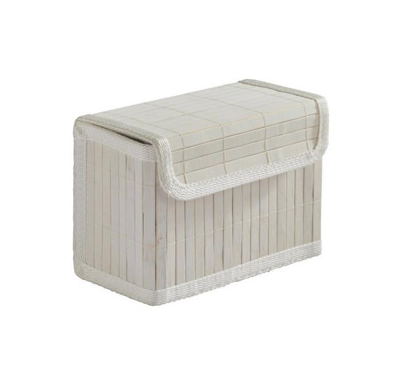 Korb Bamboo White - Weiß, Holz (17/11/13.5cm) - Mömax modern living