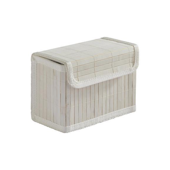 Košara Bamboo White - bela, tekstil/les (17/11/13.5cm) - Mömax modern living