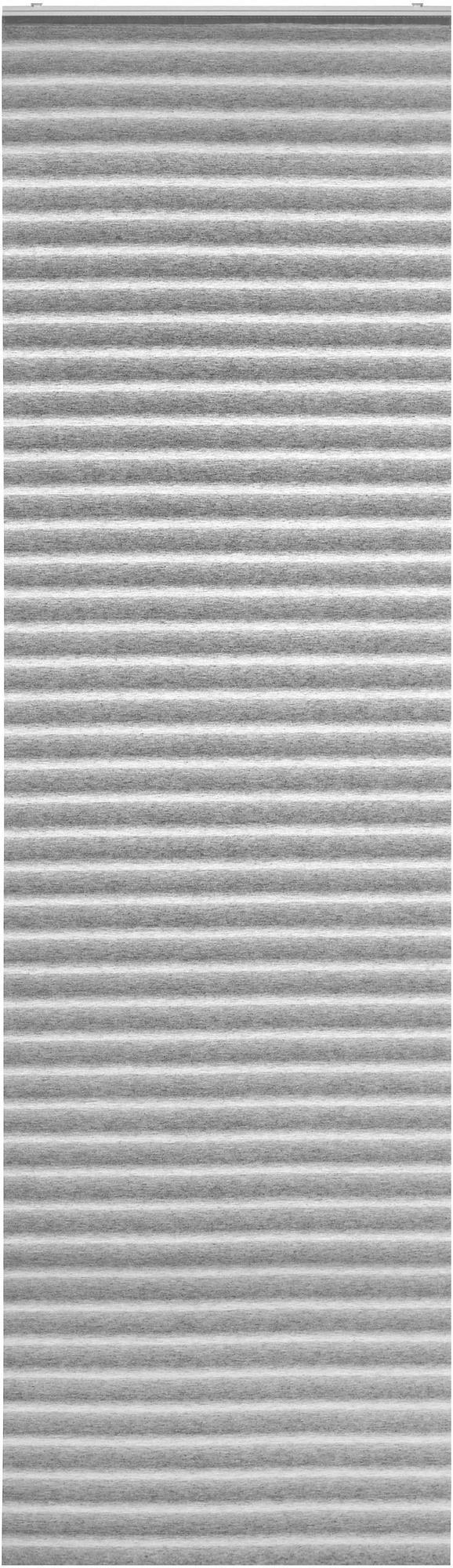 Flächenvorhang Flow Grau 60x245cm - Grau, MODERN, Textil (60/245cm) - Mömax modern living