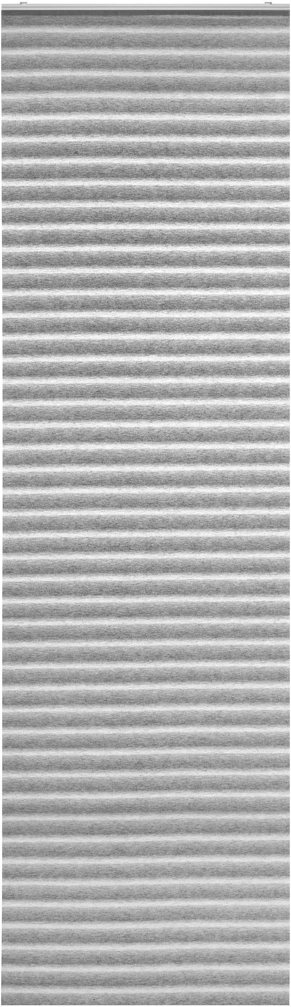 Flächenvorhang Flow in Grau, ca. 60x245cm - Grau, MODERN, Textil (60/245cm) - MÖMAX modern living