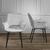 Stuhl Valentine - Hellgrau/Schwarz, MODERN, Holz/Textil (66/92/47cm) - Bessagi Home