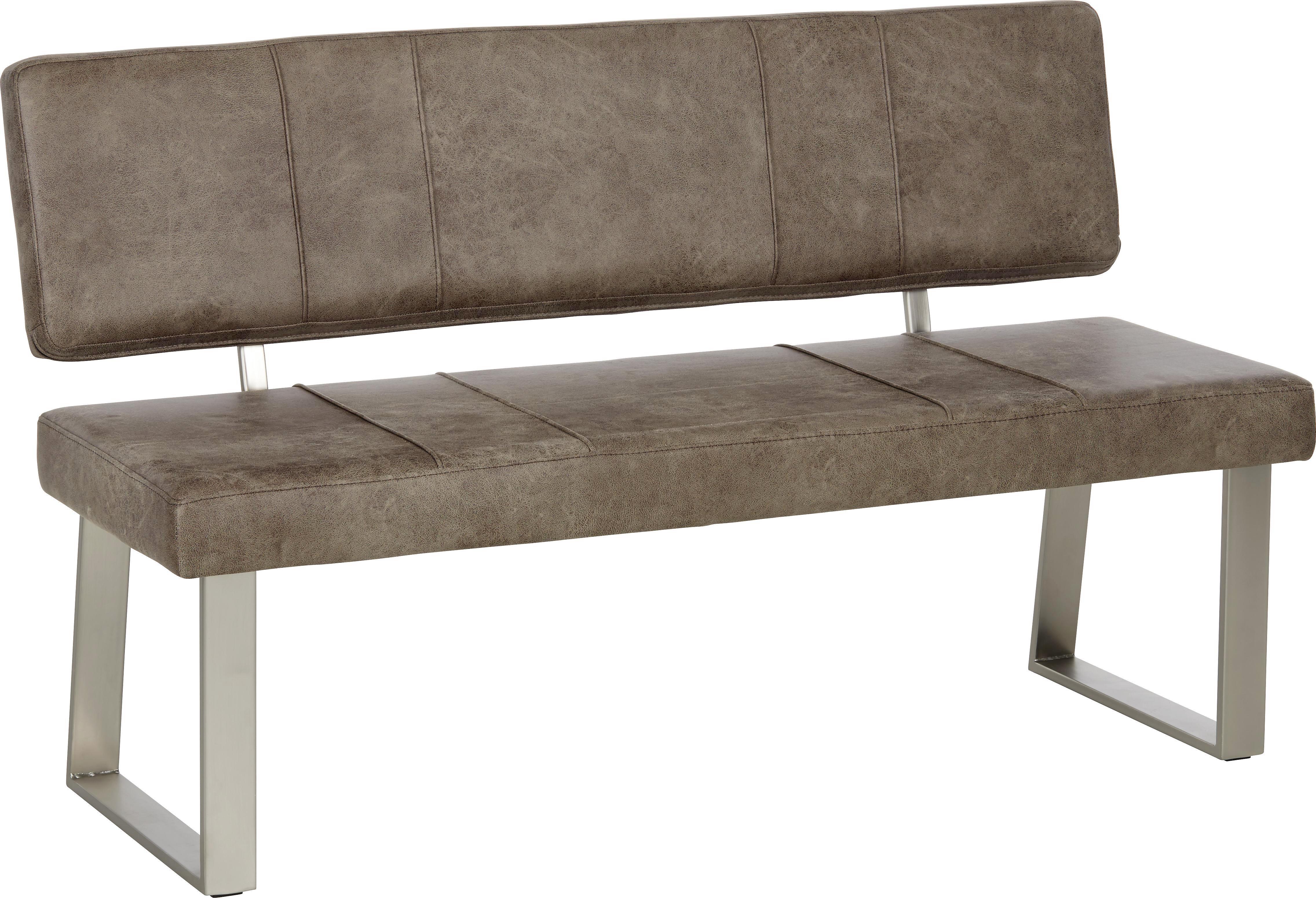 Sitzbank in Edelstahloptik - Chromfarben, MODERN, Kunststoff (140/85/58cm) - MÖMAX modern living