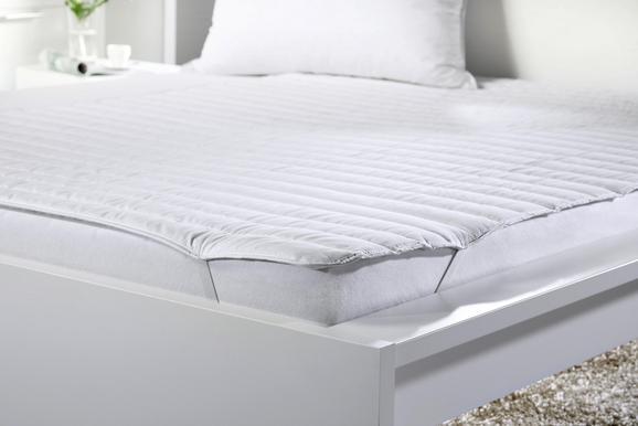 Posteljni Nadvložek Klaus - bela, tekstil (140/200cm) - Mömax modern living