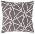 ZIERKISSEN Renata ca. 50x50cm - Weiß/Grau, KONVENTIONELL, Textil (50/50cm) - Premium Living