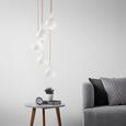Pendelleuchte Sophie 5-flammig - Silberfarben/Weiß, MODERN, Metall (25/150cm) - Premium Living