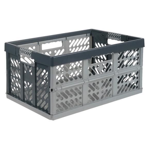 Cutie Pliantă Ben - argintiu/antracit, plastic (54/37/28cm) - Modern Living