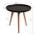 Couchtisch Dilara ca.40x40cm - Schwarz/Pinienfarben, MODERN, Holz (40/40cm) - Modern Living