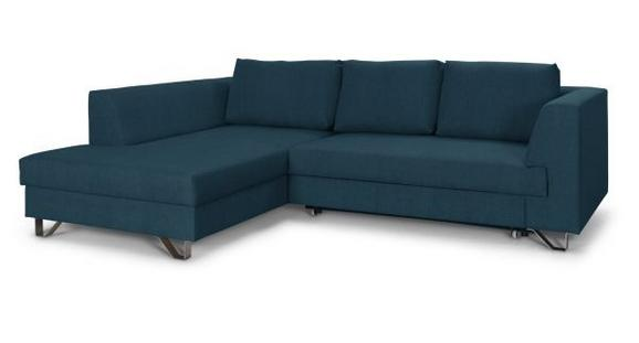 Sedežna Garnitura Mohito - petrolej/srebrna, Moderno, kovina/tekstil (196/280cm) - Premium Living