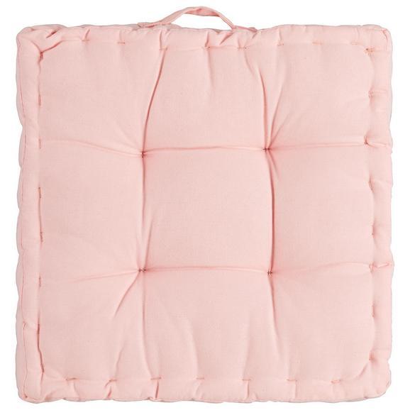 Boxkissen Bill Rosa 40x40x9cm - Rosa, Textil (40/40/9cm) - Mömax modern living