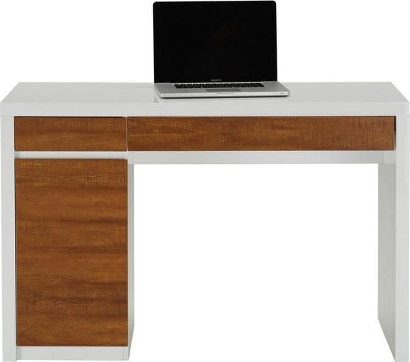 Schreibtisch Weiß Holzoptik - Weiß, MODERN, Holzwerkstoff (120/78/50cm) - MÖMAX modern living