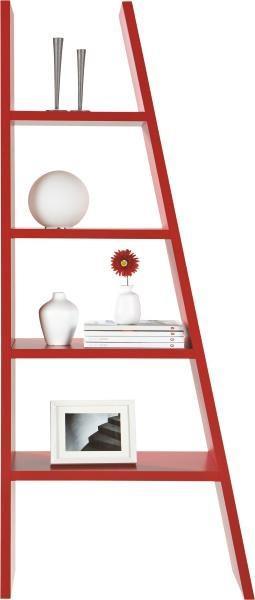 Regal in Rot lackiert - Rot, Holzwerkstoff (42-76/190/30cm) - MÖMAX modern living
