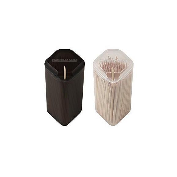 Scobitoare Stick - alb/gri, plastic/lemn (3/3/7,5cm)