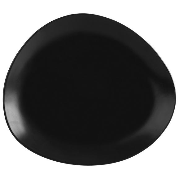 Lapostányér Nele - Fekete, modern, Kerámia (29,5l) - Premium Living