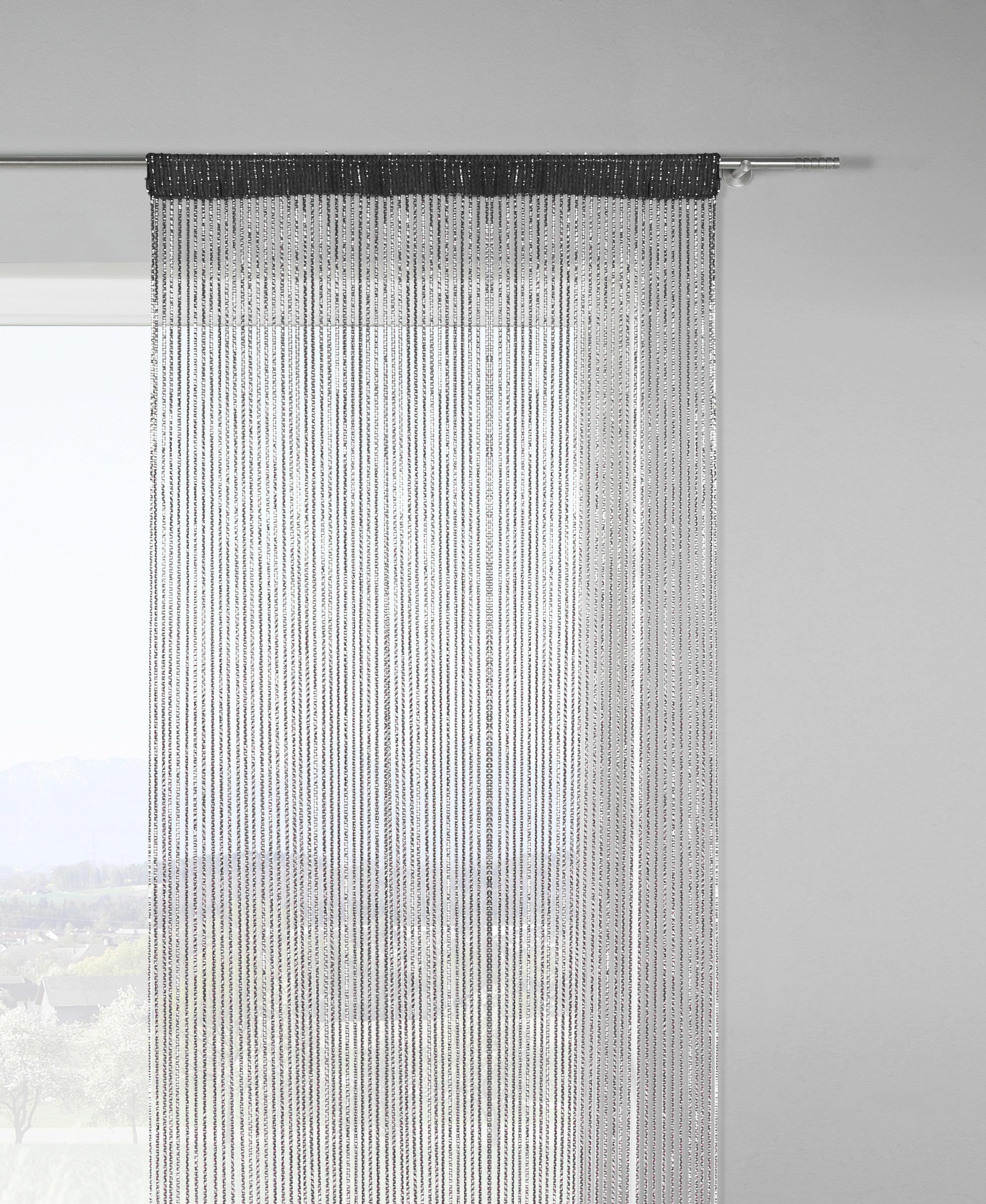 Zsinórfüggöny Lurex - fekete/arany színű, Lifestyle, textil (90/245cm) - MÖMAX modern living