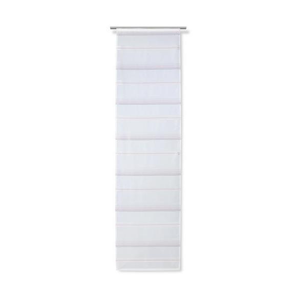Flächenvorhang Louis Weiß 60x245cm - Rosa/Weiß, KONVENTIONELL, Textil (60/245cm) - Mömax modern living
