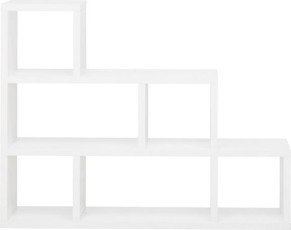 Raumteiler in Weiß mit 6 Fächern - Weiß, MODERN, Holzwerkstoff (155/117/35cm) - MÖMAX modern living
