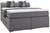 Boxspringbett in Grau ca.160x200cm - Schwarz/Grau, MODERN, Holzwerkstoff/Kunststoff (160/200cm) - Modern Living