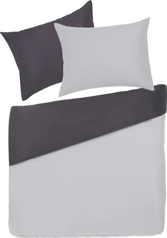 Bettwäsche Belinda Grau 200x200cm - Hellgrau/Grau, Textil (200/200cm) - Premium Living