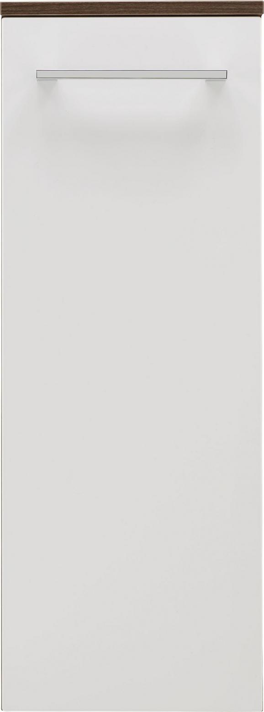 Unterschrank Weiß/Walnussfarben - Chromfarben/Walnussfarben, MODERN, Glas/Holzwerkstoff (31/81/32cm) - PREMIUM LIVING