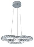 Pendelleuchte Charlott mit Led - Edelstahlfarben, MODERN, Kunststoff/Metall (47/47/150cm) - Mömax modern living