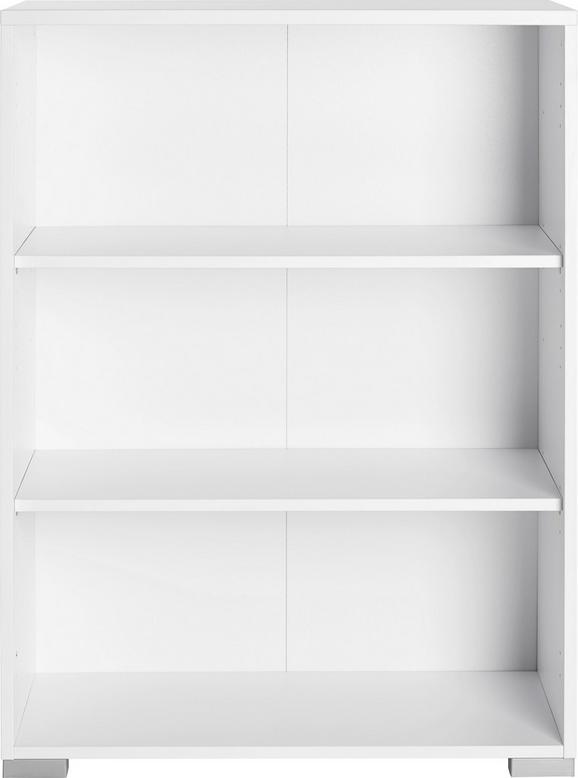 Aktenregal Weiß - Silberfarben/Weiß, MODERN, Holzwerkstoff/Kunststoff (80/109,7/40cm) - Mömax modern living