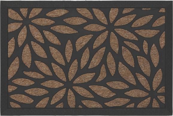 Fußmatte Max in Beige, ca. 40x60cm - Schwarz/Braun, MODERN, Kunststoff (40/60cm) - MÖMAX modern living