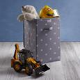 Box Sandy in Grau mit Deckel ca. 30x30x30 cm - Weiß/Grau, MODERN, Kunststoff (30/50/30cm) - Bessagi Home
