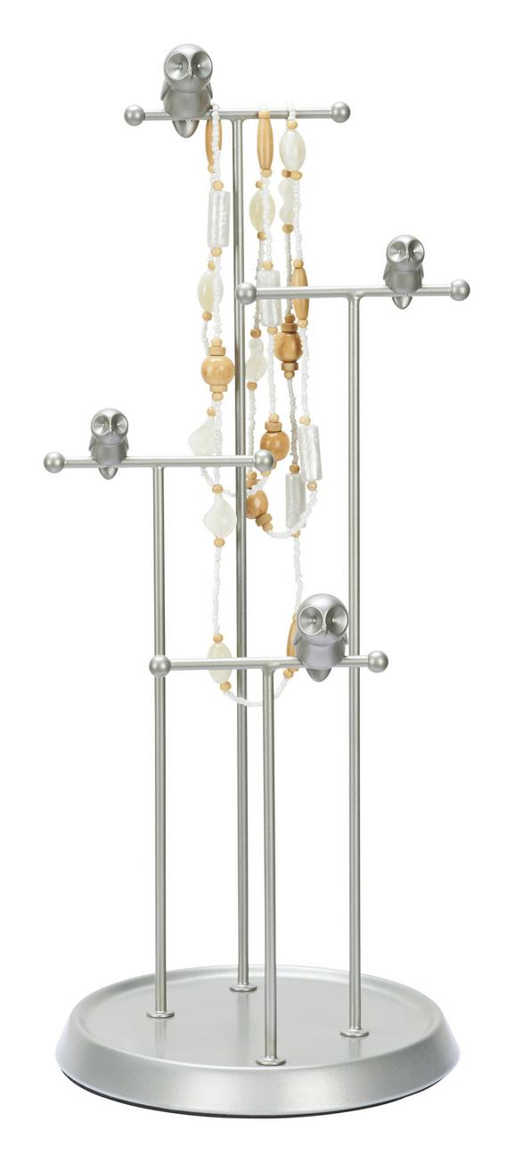 Schmuckhalter Florentina Nickelfarben - Nickelfarben, ROMANTIK / LANDHAUS, Metall (17,5/44,3cm) - Mömax modern living
