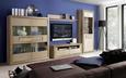 Tv-element Tiziano - siva/hrast, Moderno, kovina/umetna masa (143,7/49,8/54,2cm) - Mömax modern living