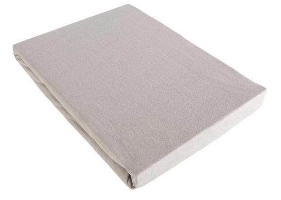 Spannleintuch Basic Grau ca. 100x200cm - Grau, Textil (100/200cm) - Mömax modern living