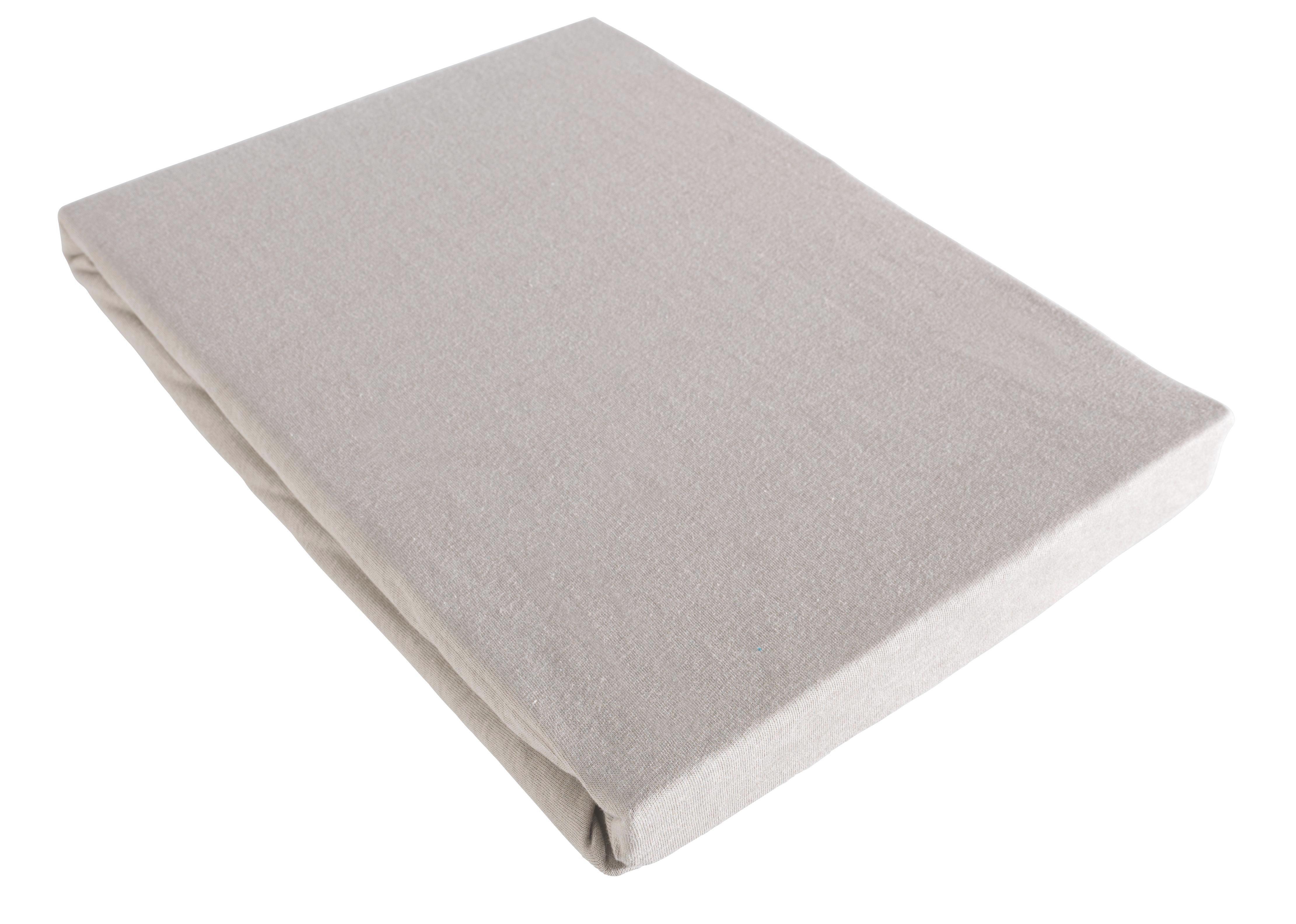 Spannleintuch Basic in Grau, ca. 100x200cm - Grau, Textil (100/200cm) - MÖMAX modern living