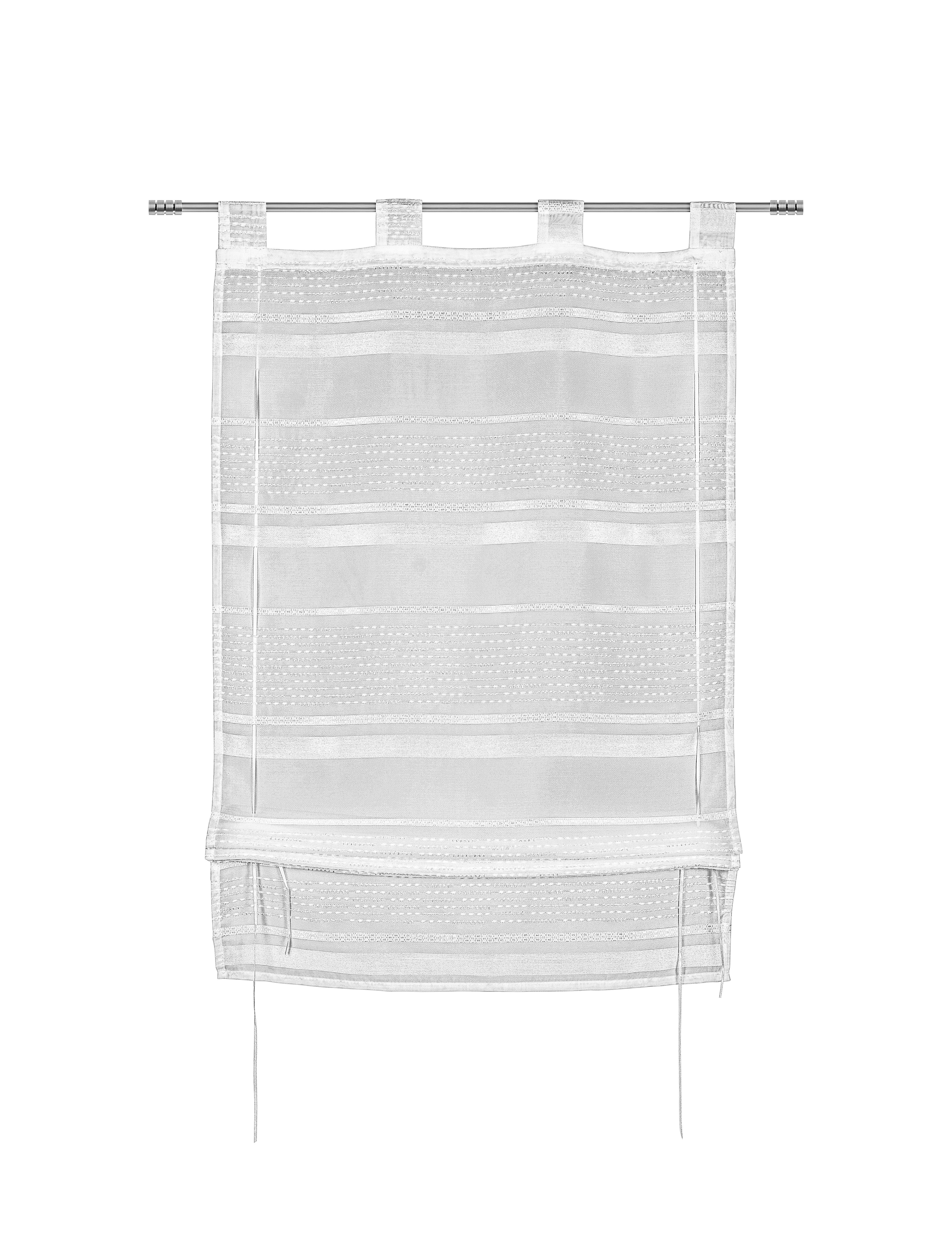 Bändchenrollo Adele in Weiß, ca. 100x140cm - Weiß, KONVENTIONELL, Textil (100/140cm) - MÖMAX modern living