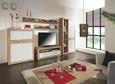 Element Tv Malta - Alb/Culoare stejar, Modern, Lemn (128/50/42cm)