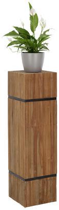 Blumensäule Rustic In Teakholz - Teakfarben, LIFESTYLE, Holz (30/105/30cm) - Premium Living