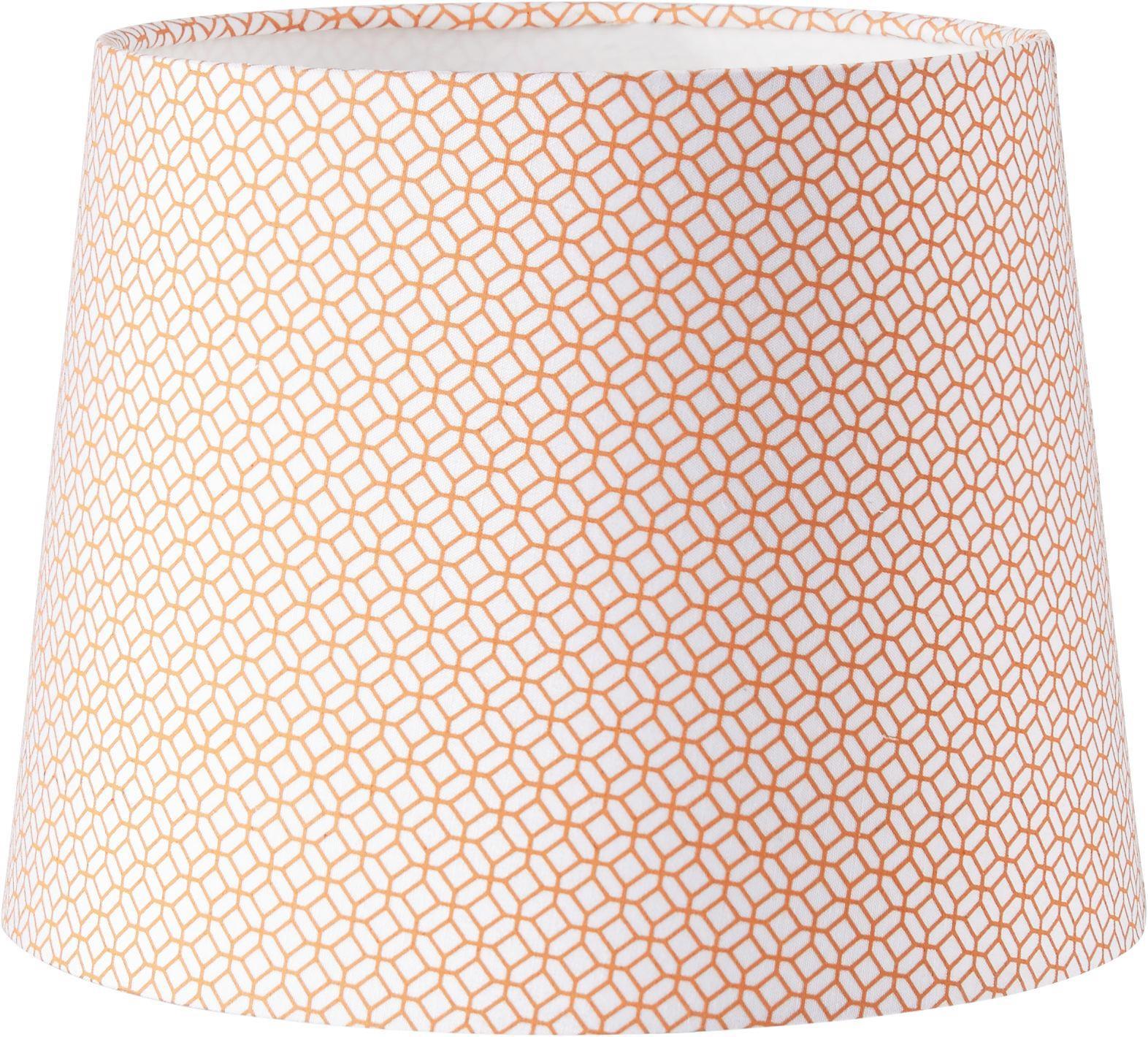 Leuchtenschirm Sahara in Orange - Orange/Weiß, LIFESTYLE, Textil/Metall (16,5-20/15,6cm) - MÖMAX modern living