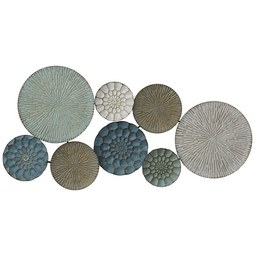 Wanddeko Verde ca. 108x49x7,5cm - Goldfarben/Weiß, Metall (99,5/50,5/7cm) - Mömax modern living
