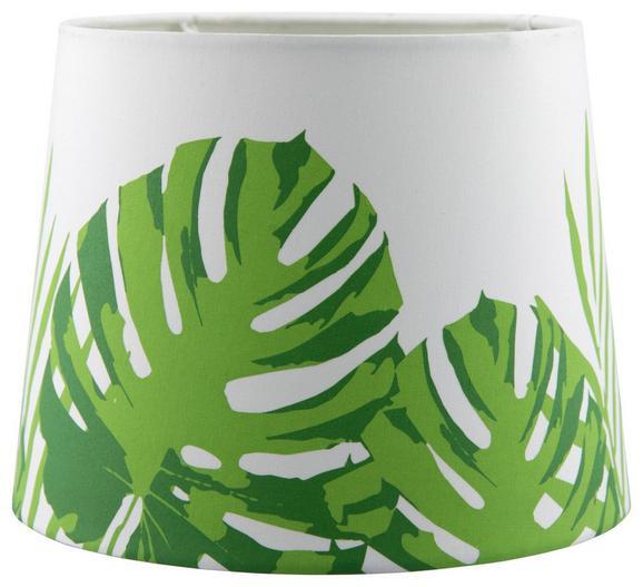 Leuchtenschirm Green Leaf in Weiß/Grün - Weiß/Grün, LIFESTYLE, Textil/Metall (16,5-20/15,6cm) - Mömax modern living