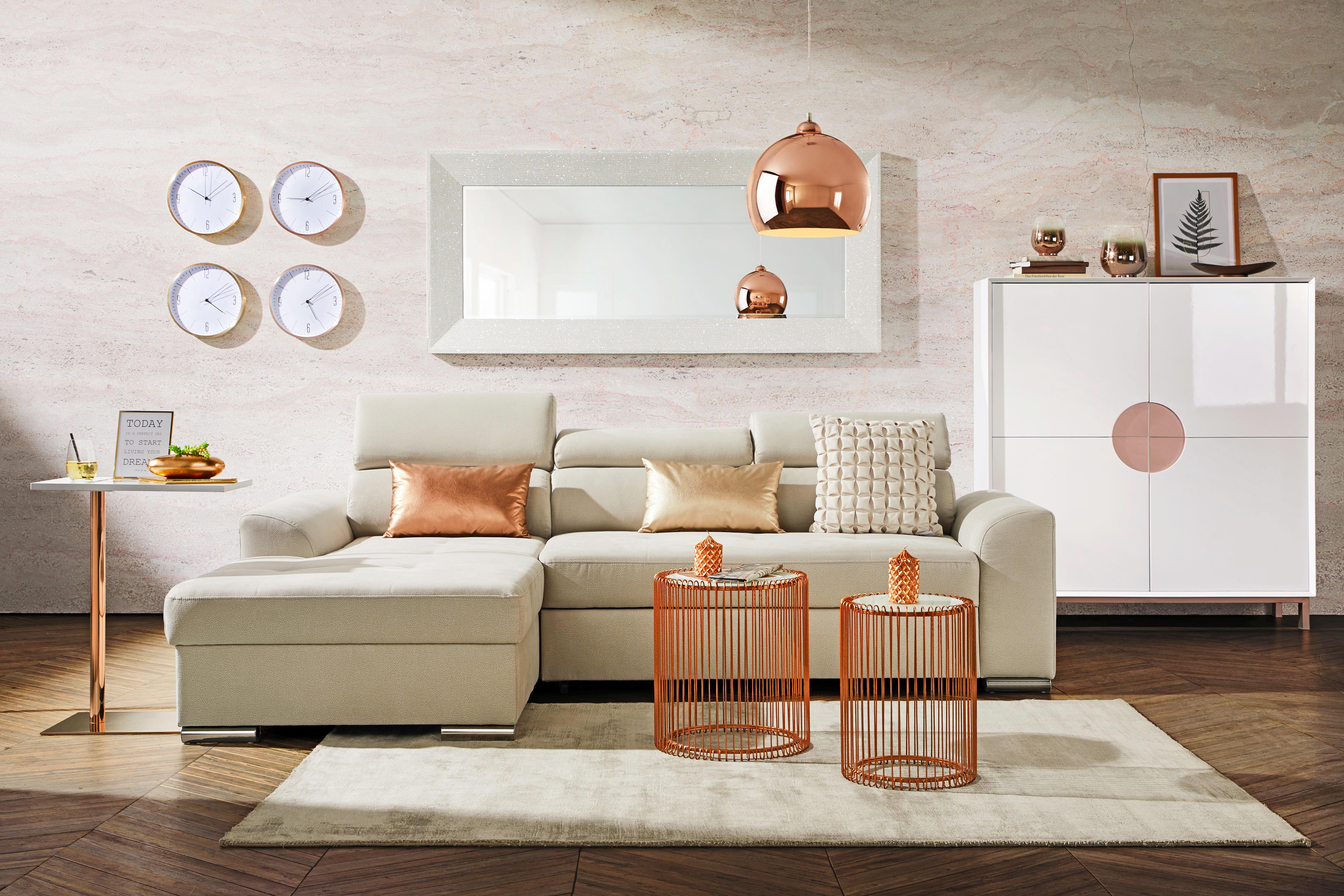 Falióra Jesper - sárgaréz szín, modern, fém (30/4cm) - MÖMAX modern living