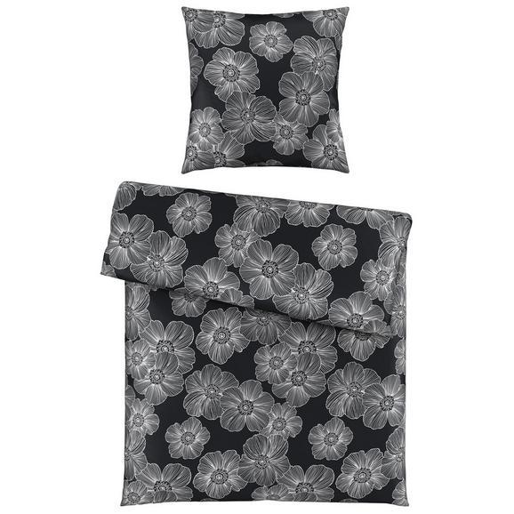 Bettwäsche Elli in Schwarz ca. 135x200cm - Schwarz, KONVENTIONELL, Textil (135/200cm) - Mömax modern living