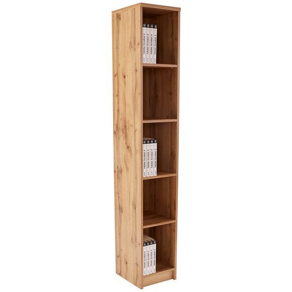 Regal 4-you New - črna/hrast, Moderno, umetna masa/leseni material (30/189,5/34,6cm) - Mömax modern living