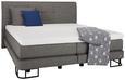 Boxspringbett Anthrazit 180x200cm - Anthrazit, KONVENTIONELL, Textil/Metall (217/201/114cm) - Premium Living