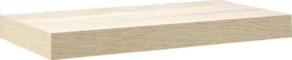 Falipolc Anja - tölgy színű, faanyagok (50/4.4/24cm)
