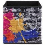 Aufbewahrungsbox Poppi mit Steindesign - Multicolor, MODERN, Karton/Textil (32/32/32cm) - Based