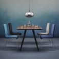 Stuhl Vinzenz - Chromfarben/Grau, MODERN, Holz/Textil (46/89/53cm) - Mömax modern living