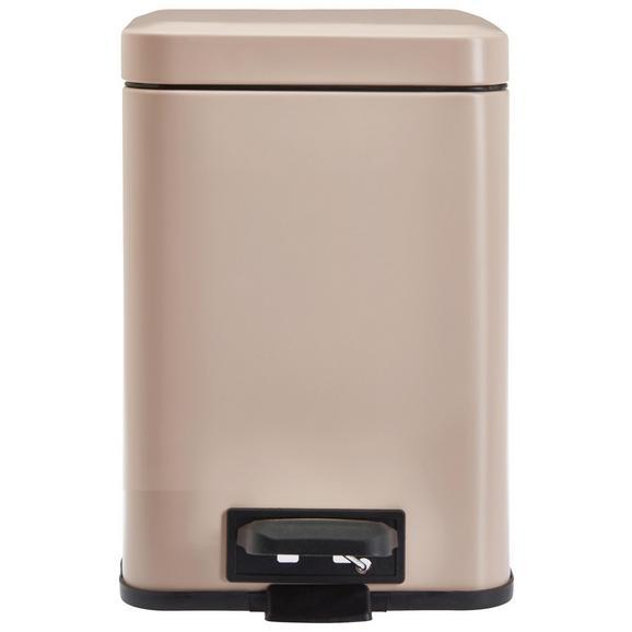 Koš Za Smeti Larissa - pastelno roza, Romantika, kovina/umetna masa (20/20/30,5cm) - Premium Living