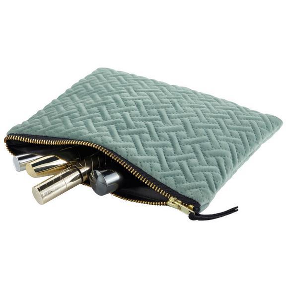 Kosmetiktasche Stefanie Versch. Farben - Beige/Schwarz, MODERN, Textil (21/16,5cm) - Premium Living