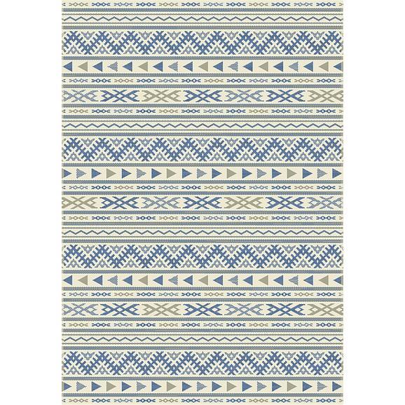 Flachwebeteppich Kelim 3 ca. 160x230cm - Blau/Naturfarben, MODERN, Textil (160/230cm) - Mömax modern living
