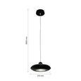 Pendelleuchte Leah mit LED - Schwarz, MODERN, Glas/Kunststoff (21/21/180cm) - Bessagi Home