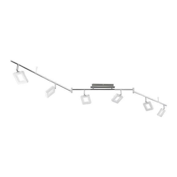 Led-reflektor Nanni - krom, Romantika, kovina/umetna masa (180/19cm) - Premium Living